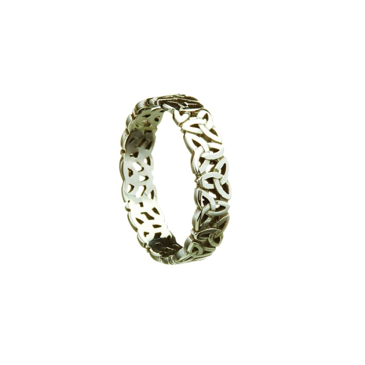 18 carat white gold open trinity lady's ring
