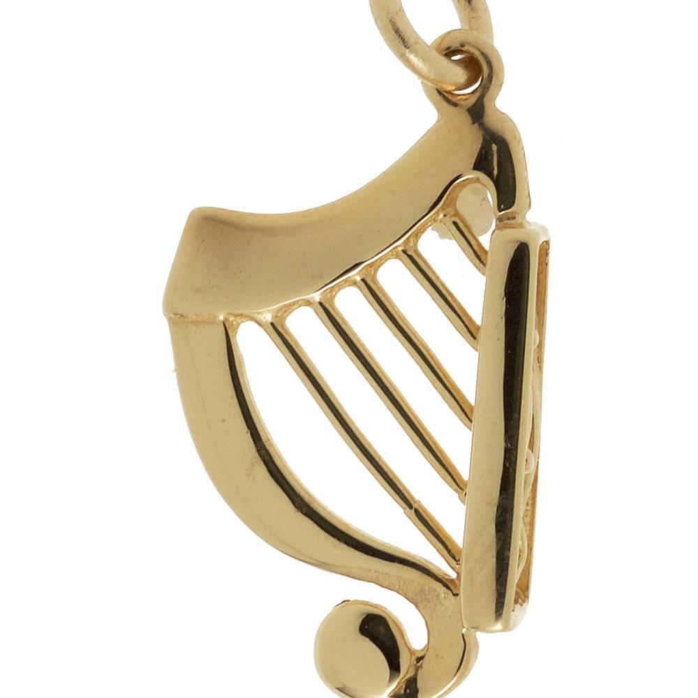 10 carat yellow gold Irish Harp charm