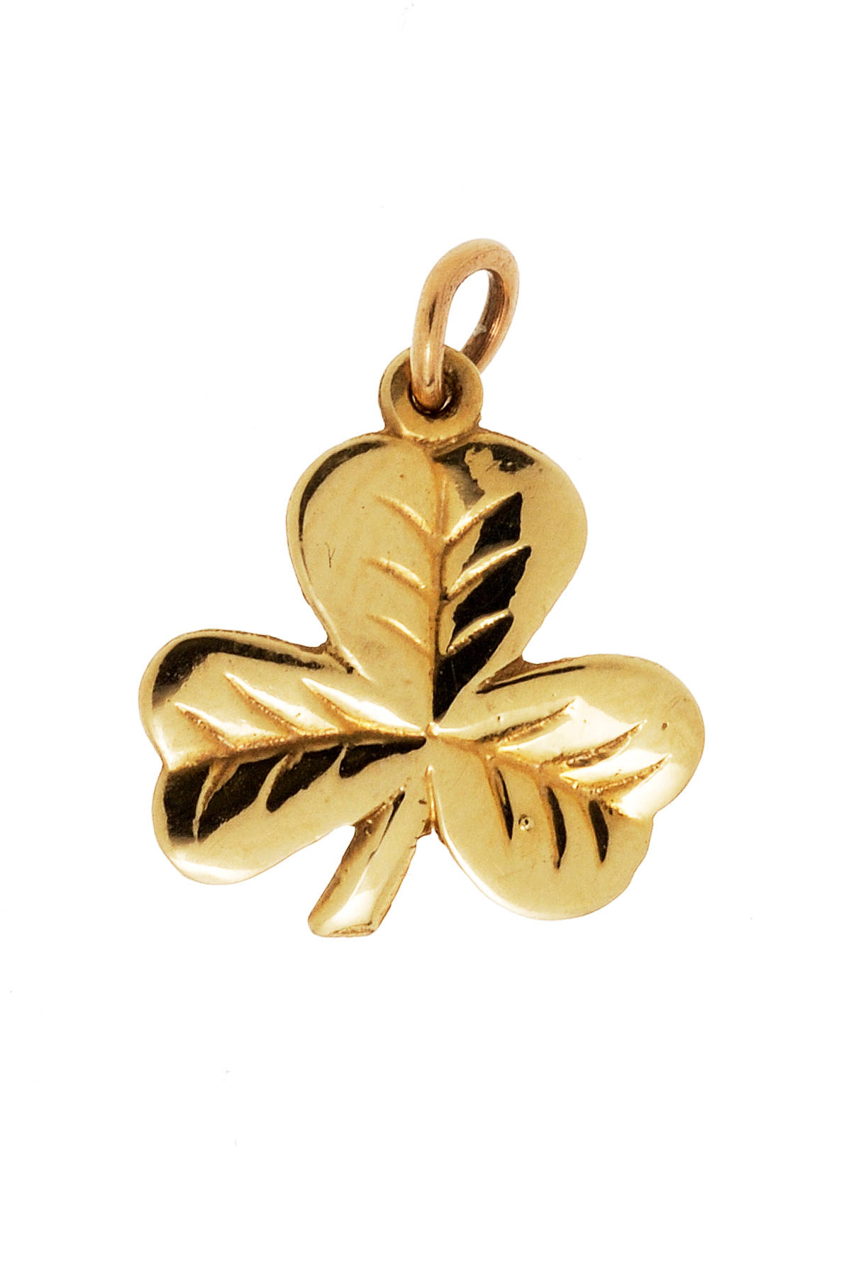 10 carat yellow gold shamrock charm