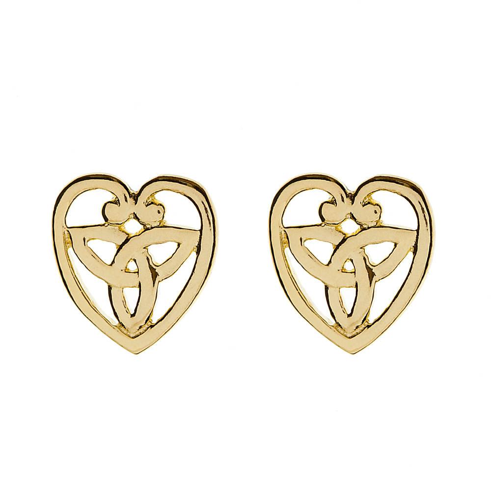 10 carat yellow gold celtic knot stud earrings