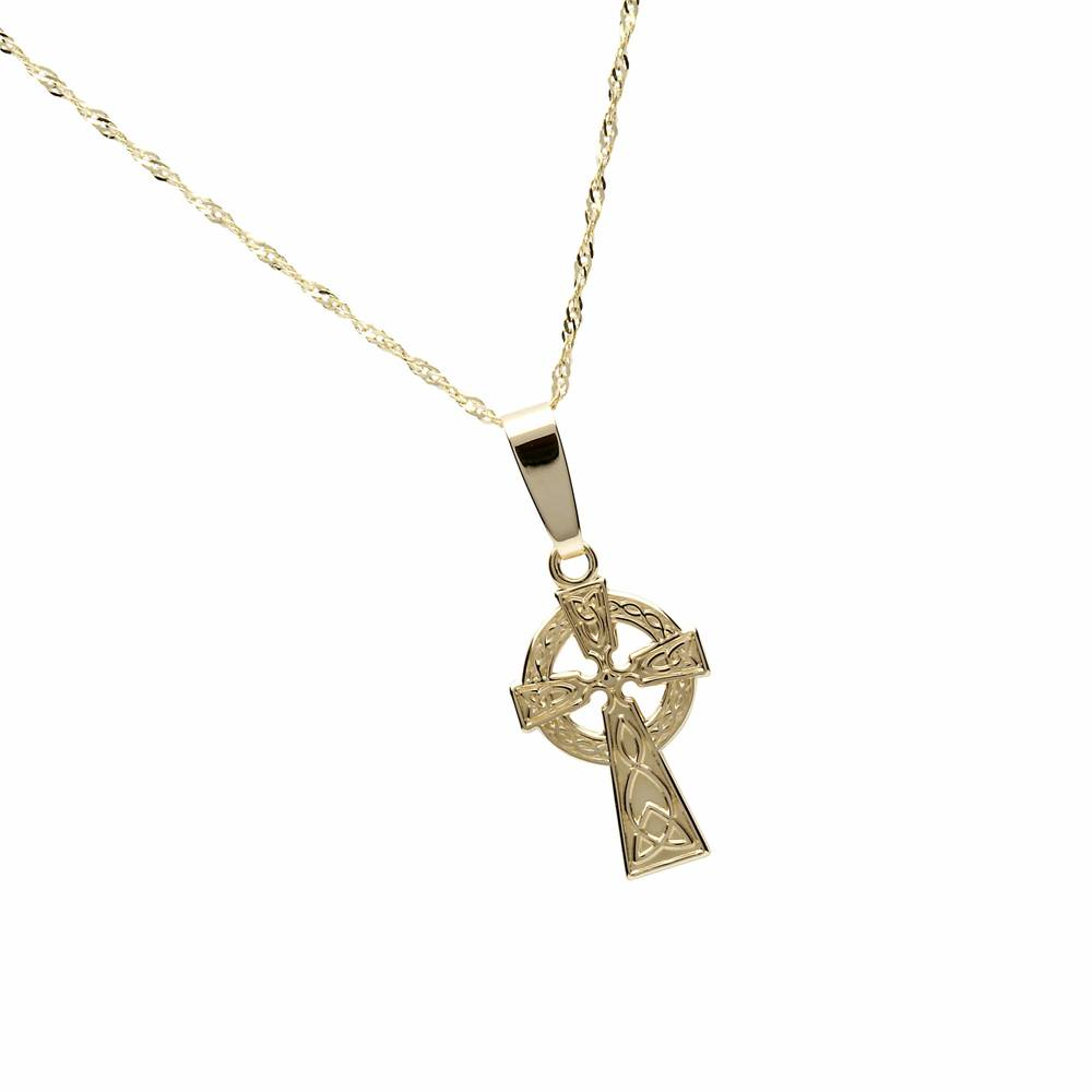 10 carat yellow gold classic Celtic cross