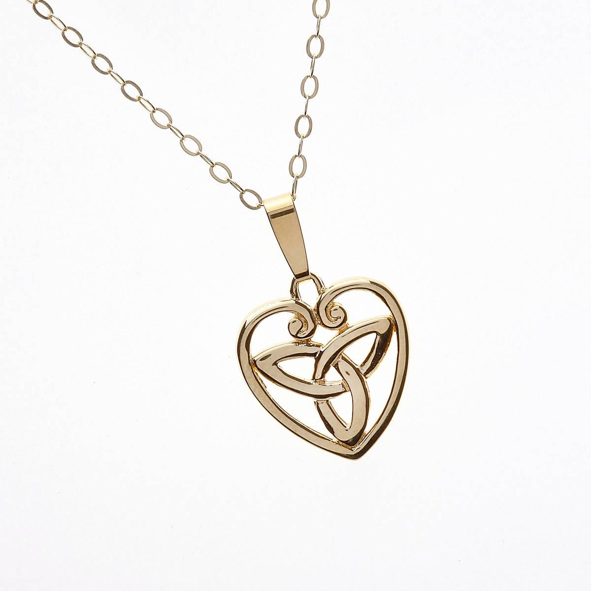 10 carat yellow gold trinity knot pendant