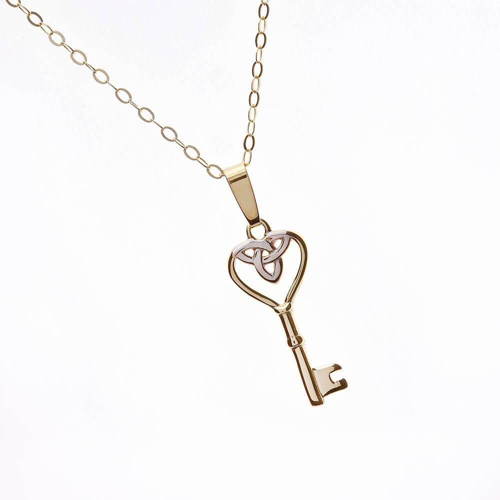 10 carat gold Key of Ireland pendant