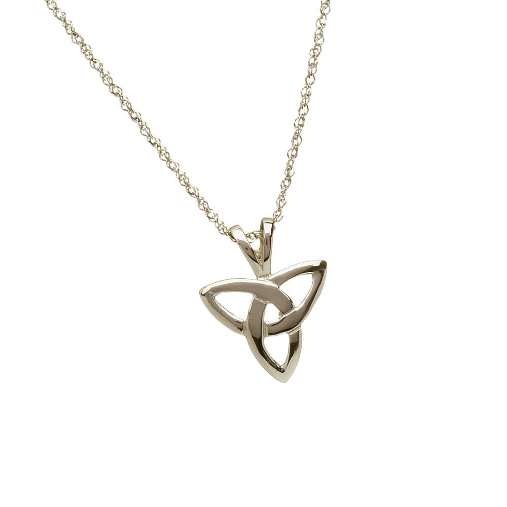 10 carat white gold trinity knot pendant