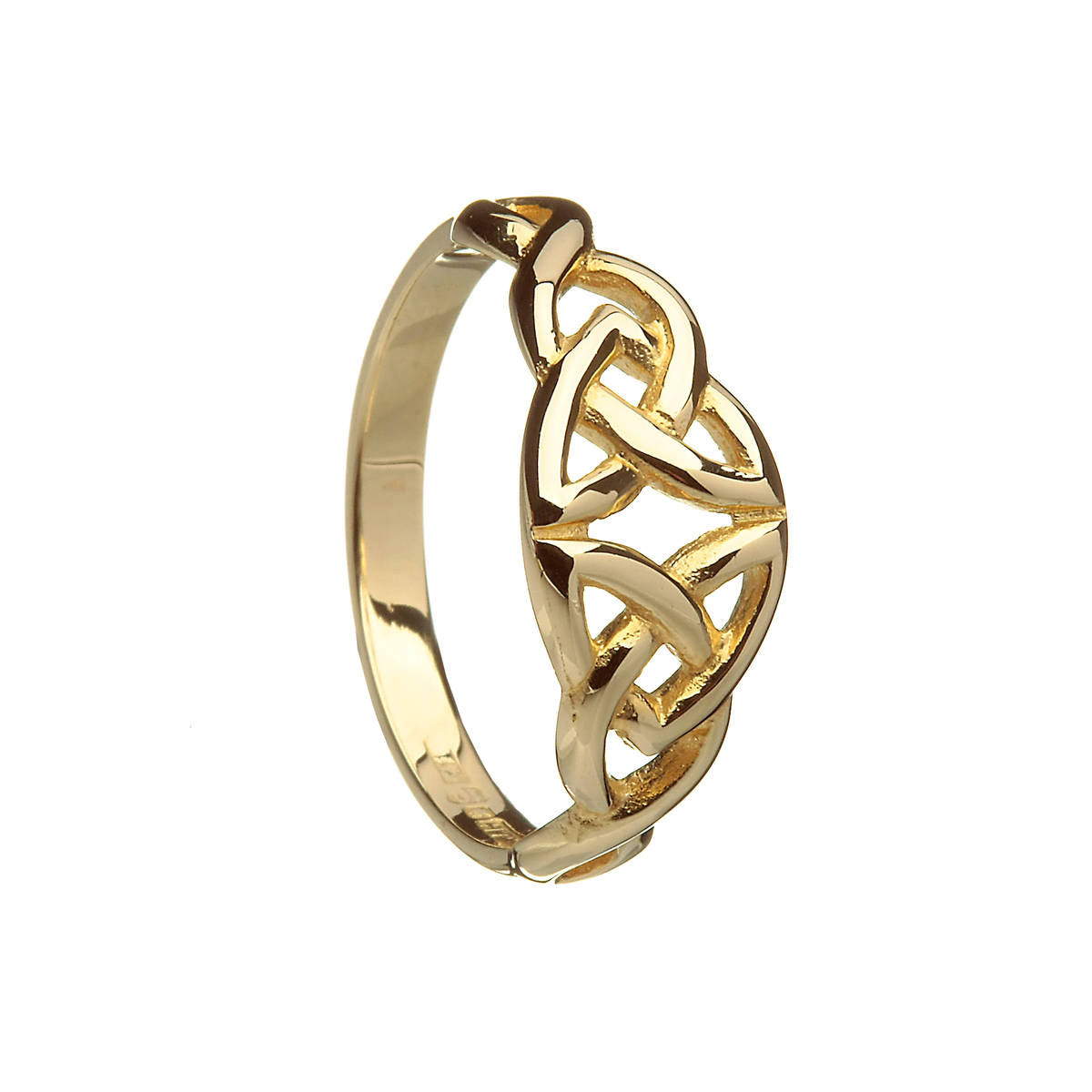 10 carat yellow gold ladies trinity knot ring