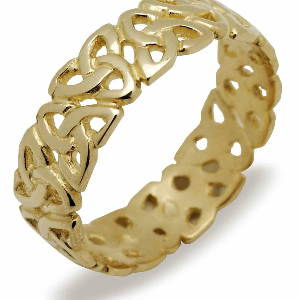 10 carat yellow gold ladies knot ring