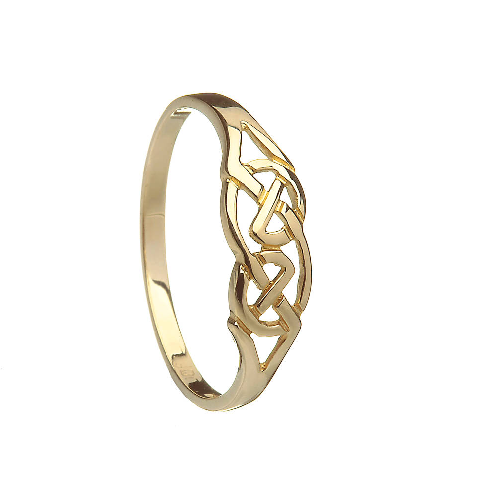 10 carat yellow gold Celtic ladies knot design dress ring