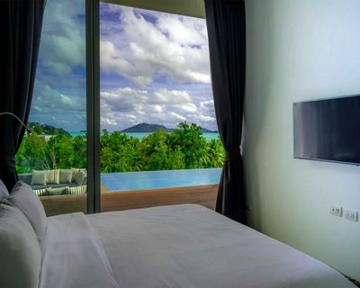 Villa Abiente - Bedroom with pool and ocean view