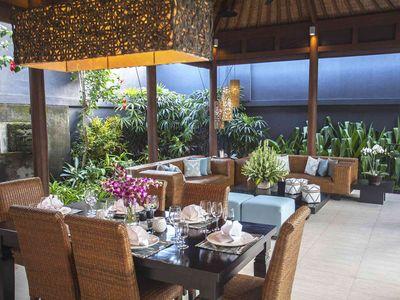 Lakshmi Villas Ubud - Dining to living area