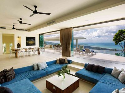 Villa Spice at Lime Samui - Living area with beautiful view