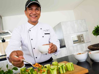 Villa Spice at Lime Samui - Chef in action