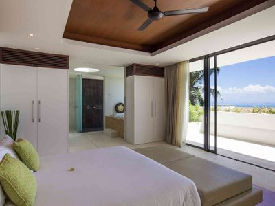 Villa Splash at Lime Samui - Bedroom two with dazzling view