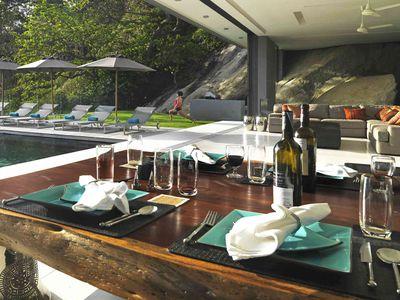 Villa Amanzi Kamala - Dining style