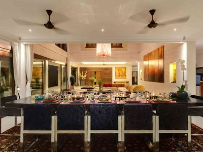 5. Villa Manis - The main house dining area at night