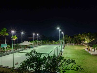The Beji - Tennis court at night