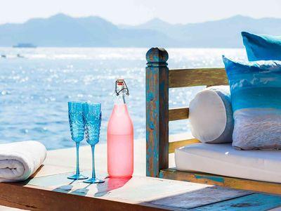 Villa Tirta Nila - Oceanfront tea house details