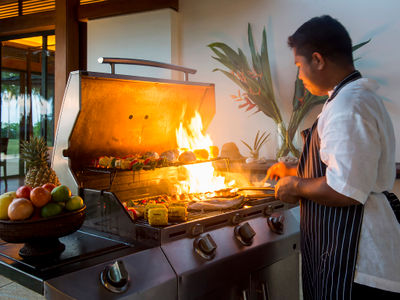 Jivana Villas - Chef in action