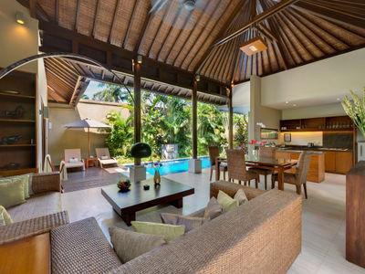 6. Lakshmi Villas - Solo - Living area view to pool