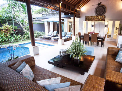 Lakshmi Villas Ubud - Living area outlook