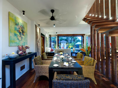 Majapahit Beach Villas - Raj - Dining room