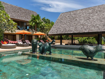 Purana Residence at Panacea Retreat - Poolside relaxation