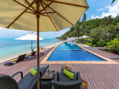 Villa Chi Samui at Lotus Samui - Crescent pool with exquisite view in the common area