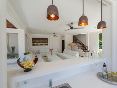 3. Villa Manis - The pool house living area and bar