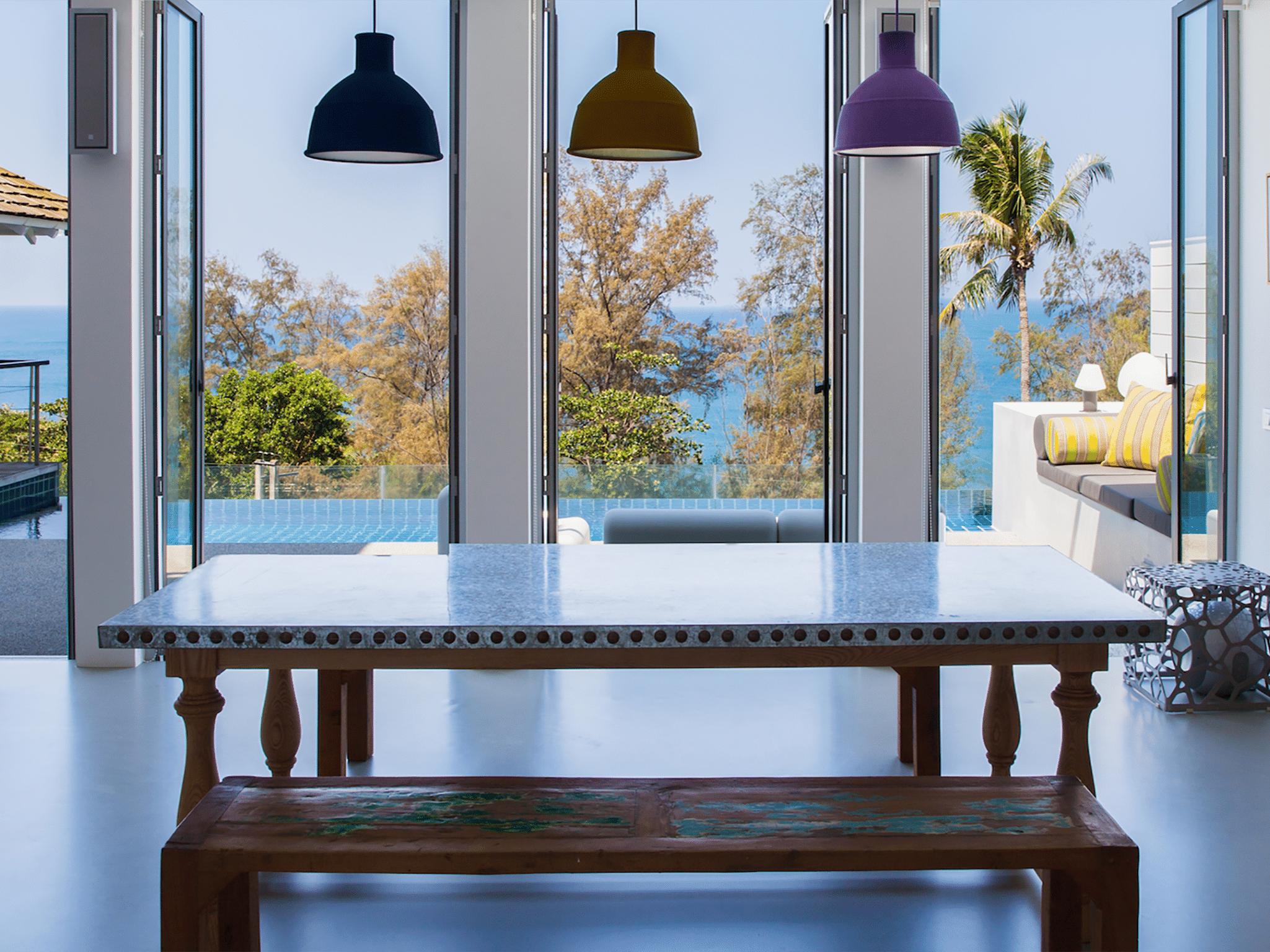 Villa Sammasan - Dining area with a view