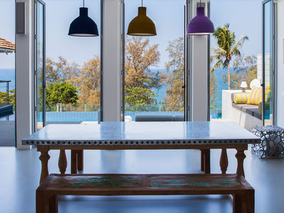 Villa Sammasan - Dining area with a view