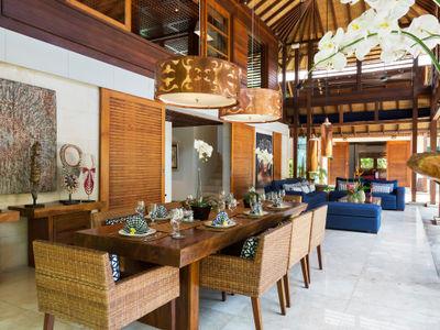Villa Windu Sari - Dining and living pavilion