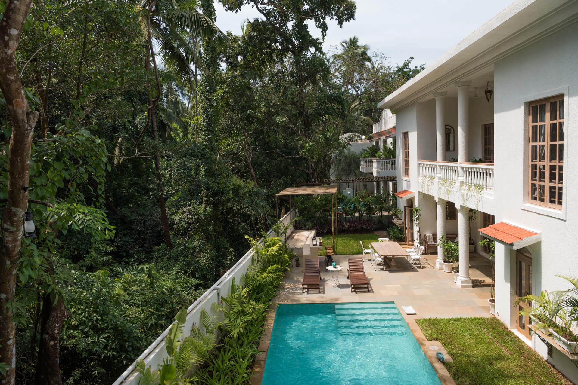 Sanitised pool villa for rent in Goa - Igreha Vaddo D