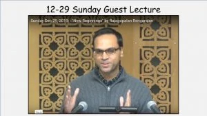 """12-29 Sunday Guest Lecture """"New Beginnings"""""""