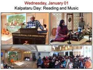 01-01 Kalpataru Day Reading, Devotional Song and Devotees