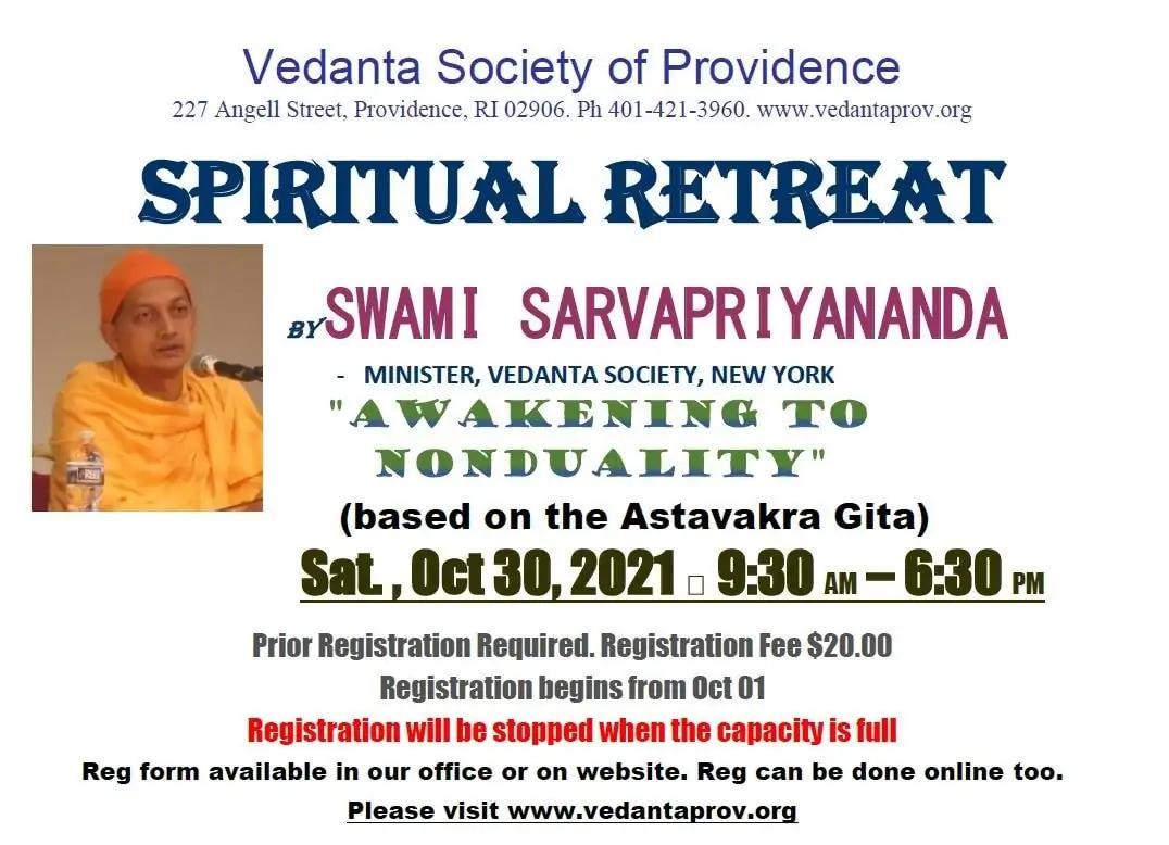 10-30 Spiritual Retreat