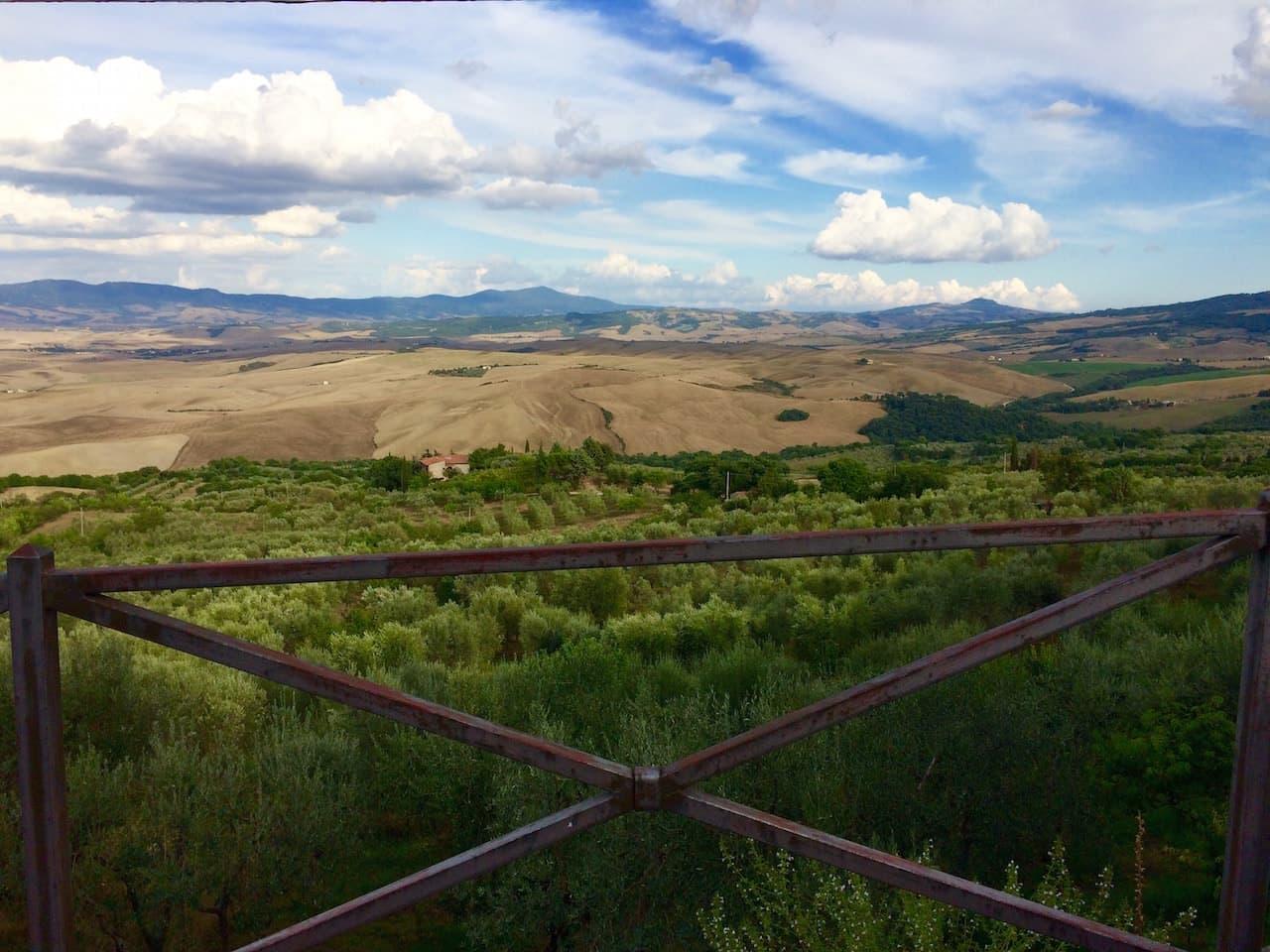 Panorama da Castiglione d'Orcia