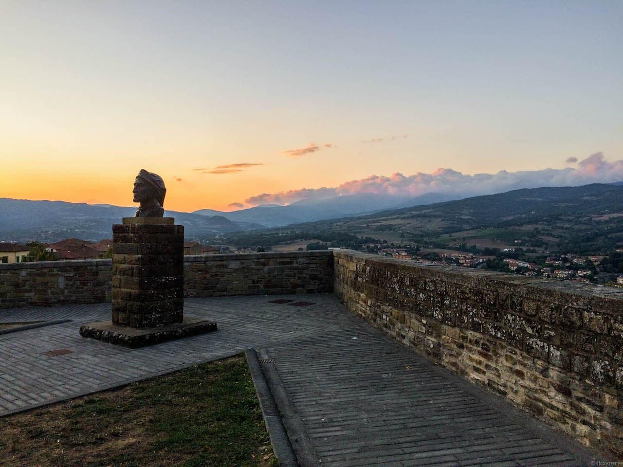 Tramonto casentinese dal castello di Poppi