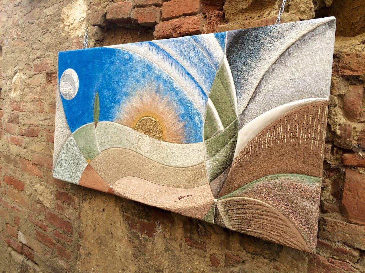 Esposizione e laboratori di pittura a Chiusure durante l'annuale Festa del Carciofo