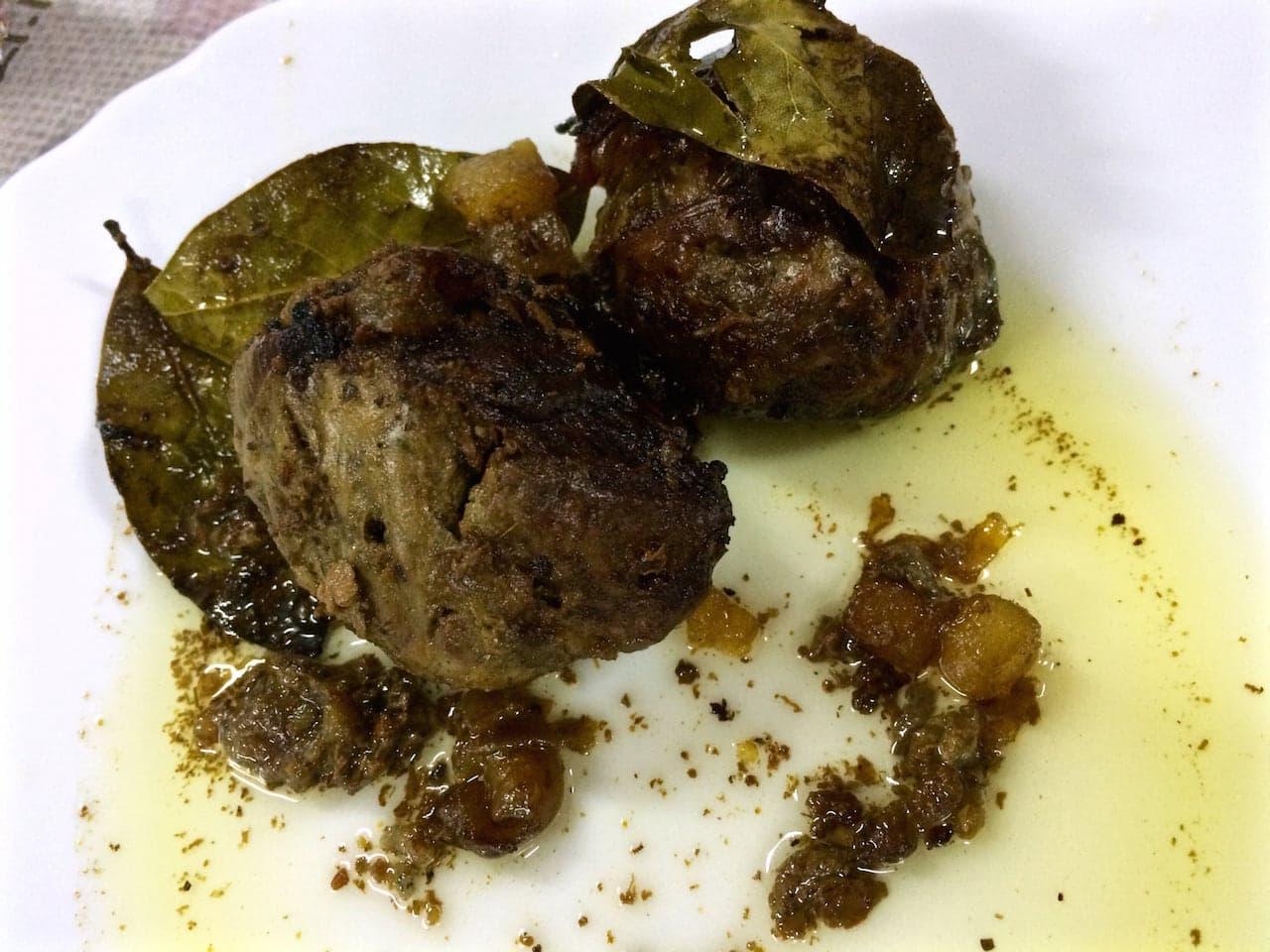 Un piatto di fegatelli