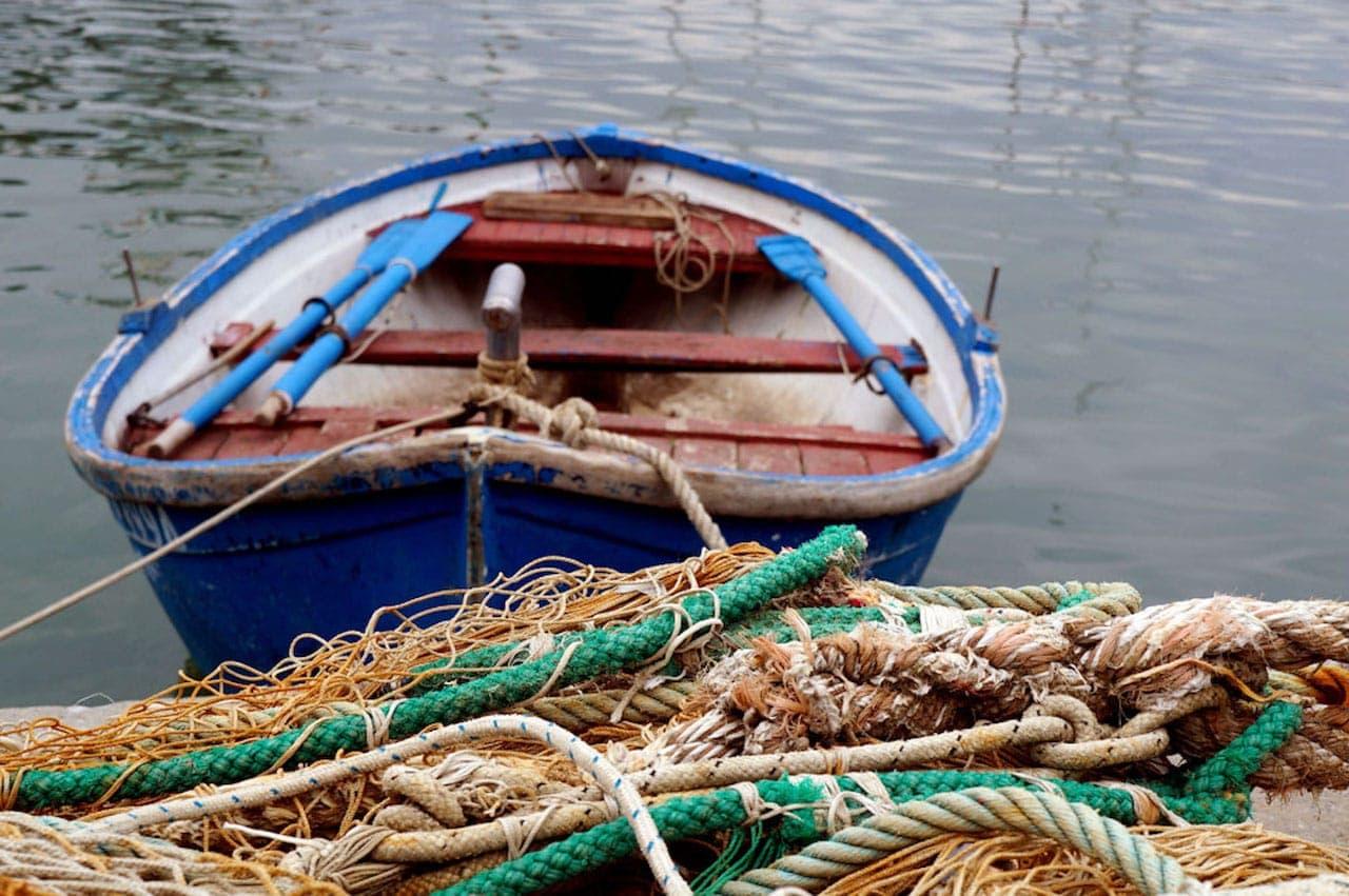 Barca e reti da pesca a La Spezia