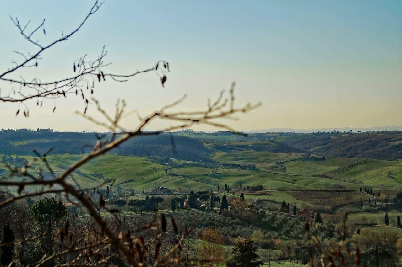Panorama della Valdichiana da Montepulciano