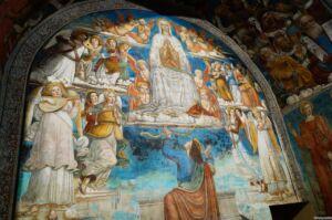 Affreschi nella Cappella della Madonna delle Nevi a Torrita di Siena