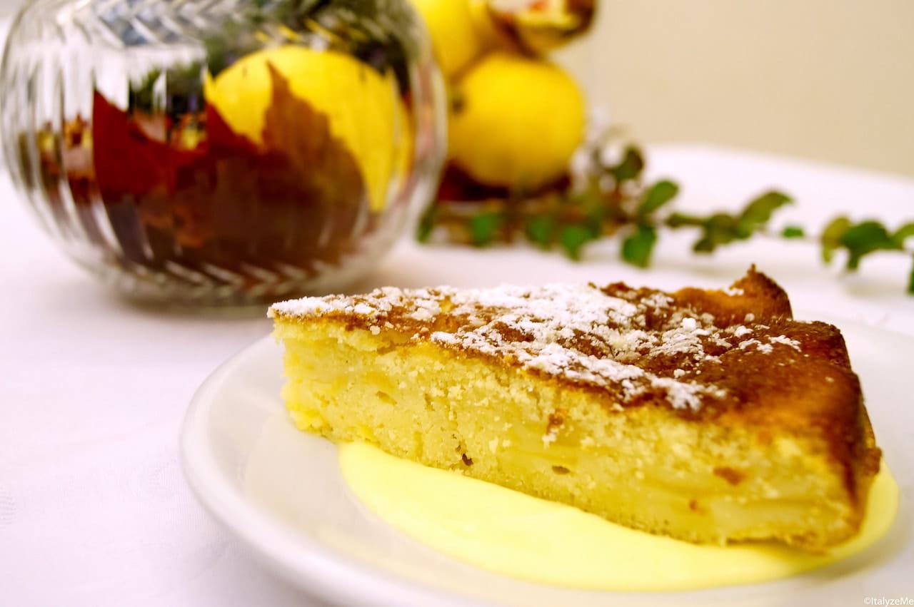 La torta di mele preparata dalle donne del quartiere montalcinese Ruga