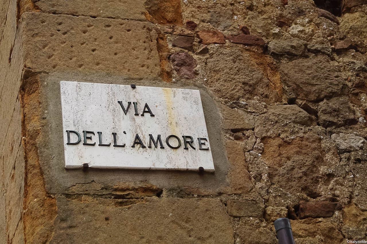 La via dell'Amore di Pienza: uno dei luoghi più romantici e suggestivi della Toscana
