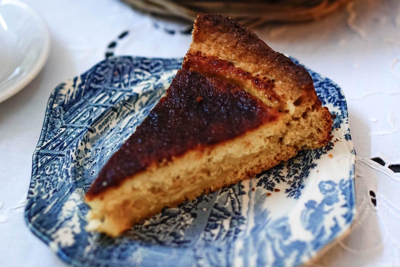 La torta di ricotta della colazione a Villa Eleiva, speciale se accompagnata con la marmellata di prugnoli