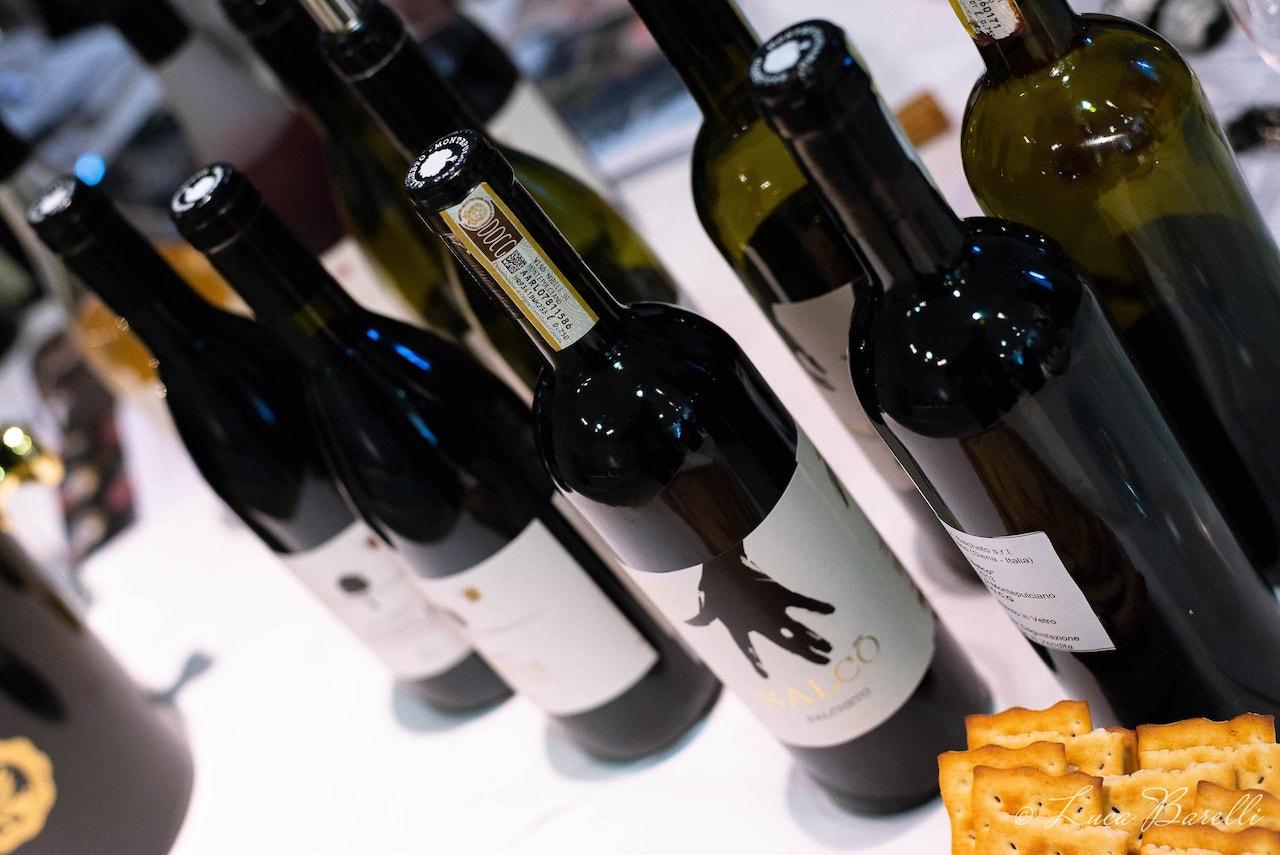 Bottiglie di Nobile all'Anteprima del Vino Nobile di Montepulciano 2018