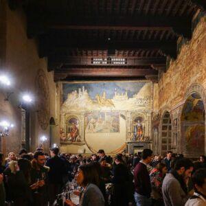 sala del mappamondo durante winesiena