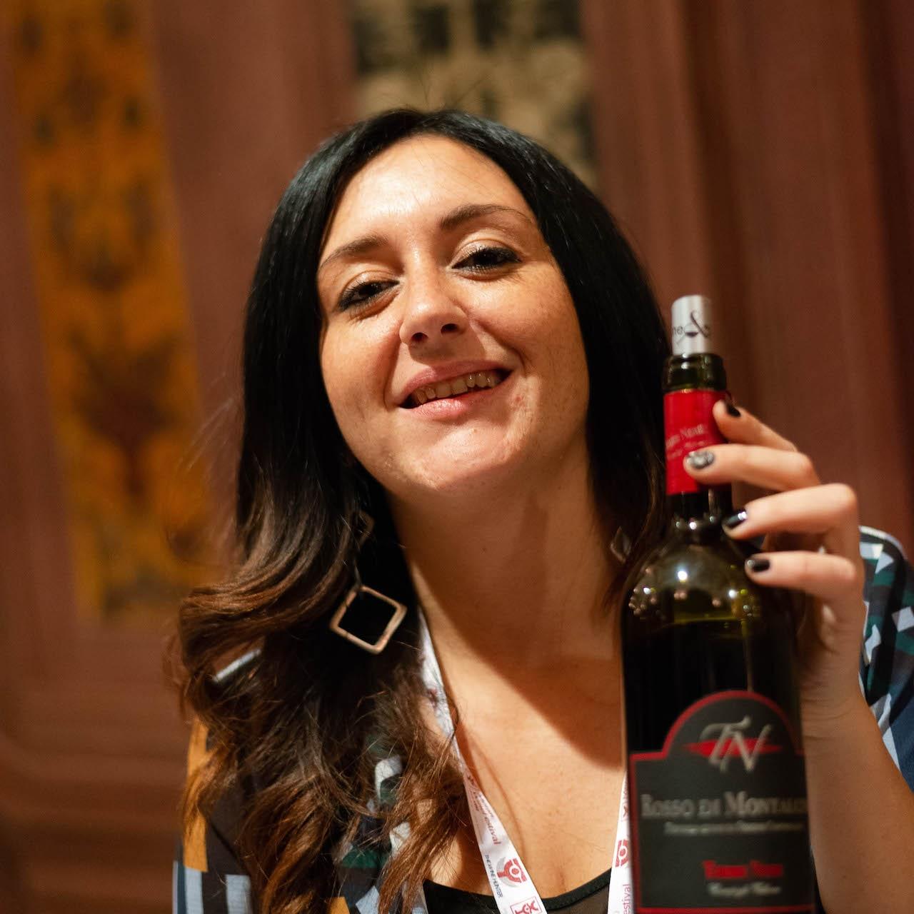 Francesca Vallone e il suo Brunello Terre Nere a Wine&siena 2019