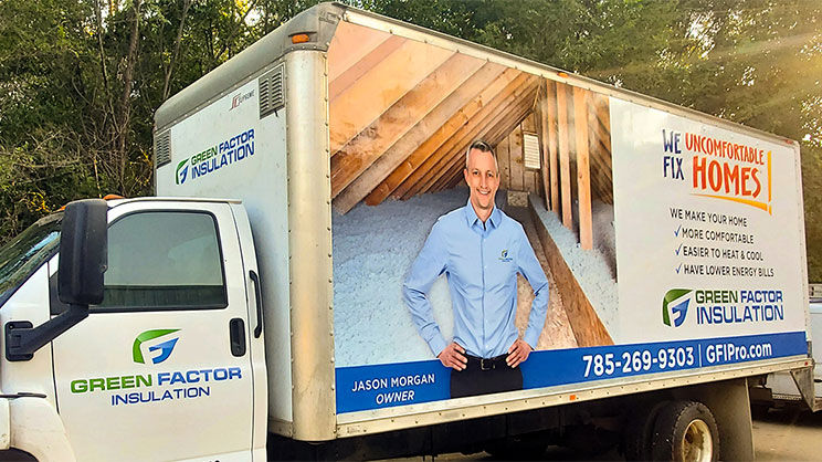 Lawrence Sign Up Green Factor Box Truck Wrap Feature Image