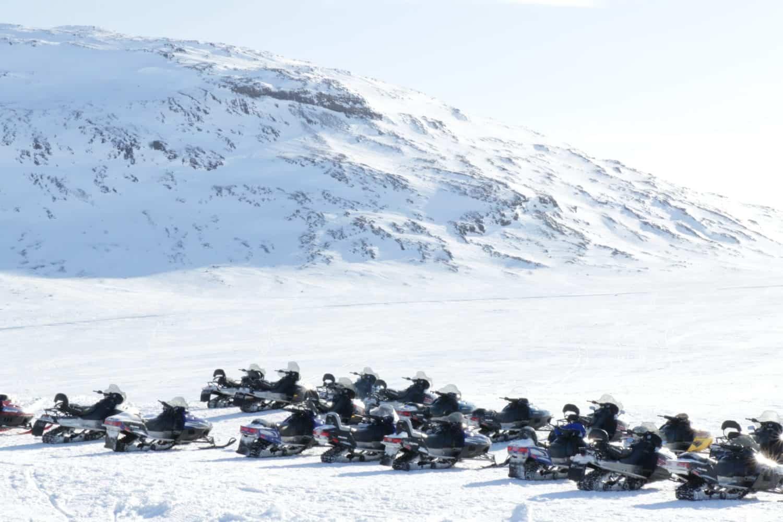 snowmobile glacier iceland