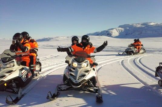 glacier snowmobile iceland